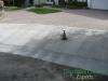 Concrete driveway apron after