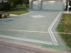 Driveway coating with design The Villages, FL