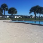 "Shown in Decorative Concrete Experts standard color ""Bombay"""