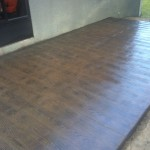 New concrete patio in Clermont with our Wood Plank stamp.