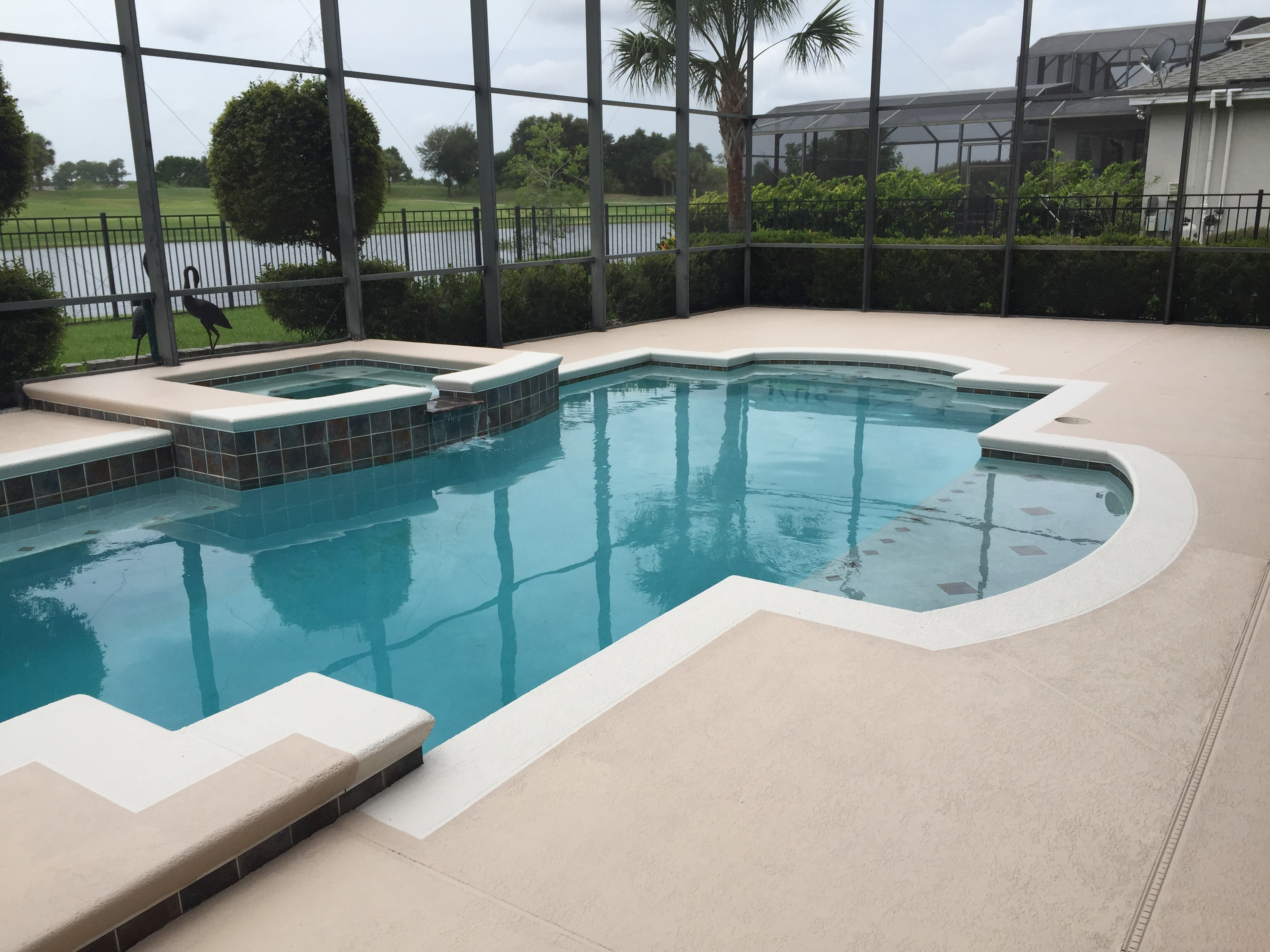 pool deck paint colorsPool deck repaint  Decorative Concrete Experts