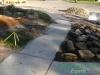 Concrete sidewalk before Hunter's Creek