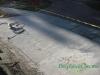 Concrete driveway apron before