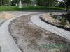 Concrete sidewalk after Hunter's Creek