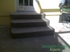 New steps poured with curved edges Orlando, FL