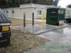 Completed concrete dumpster pad Ocala, FL