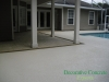 Pool Deck/Patio with texture on deck area and stamped overlay on the porch Gainesville, FL
