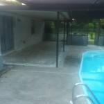 Old pool deck surface